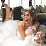 Вера Брежнева примерила свадебные платья в фотосессии