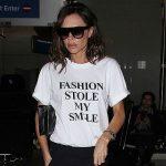 Уличный стиль знаменитости: Виктория Бекхэм в «говорящей» футболке
