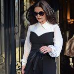 Уличный стиль знаменитости: Кэтрин Зета-Джонс в черно-белом комплекте