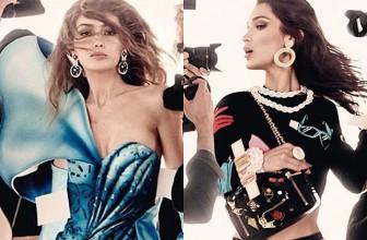 Джиджи и Белла Хадид в рекламе весенне-летней коллекции Moschino: первые кадры