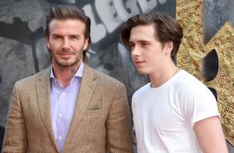 Дэвид Бекхэм с сыном, Чарли Ханнэм, Гай Ричи с сыном Рокко и другие на премьере фильма «Меч короля Артура»