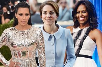 Мишель Обама, Кейт Миддлтон, Ким Кардашьян и другие звезды попали в список 150 самых стильных женщин мира