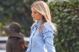 Блондинка в голубом: Гвинет Пэлтроу на прогулке в Лос-Анджелесе