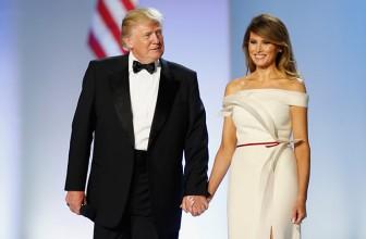 Мелания Трамп выбрала для инаугурационного бала платье собственного дизайна
