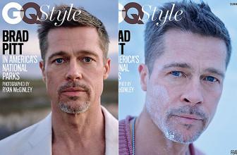 Похудевший Брэд Питт появился сразу на трех обложках глянцевого журнала