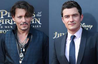Джонни Депп и Орландо Блум встретились на премьере продолжения «Пиратов Карибского моря» в Китае