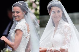 Сравниваем платья невест: Пиппа Миддлтон и Кейт Миддлтон